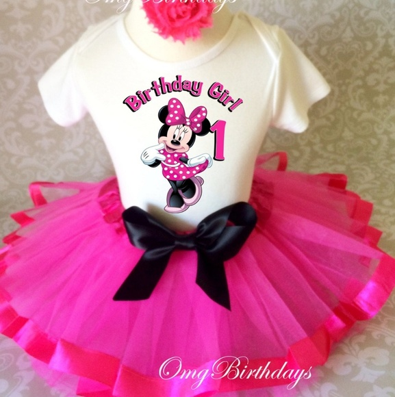 Minnie Mouse 1st Birthday Outfit.Minnie Mouse 1st Birthday Outfit